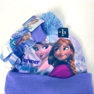 Disney Frozen Girls Hat & Glove Set NWT